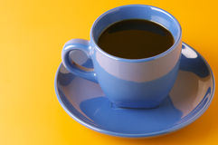 Blue cup of coffee Royalty Free Stock Photos