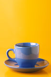 Blue cup of coffee Royalty Free Stock Images