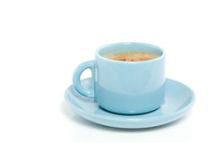 A blue cup of coffee Stock Photo