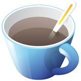 Blue cup of coffee Stock Images