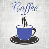 Blue cup of coffee Royalty Free Stock Photo