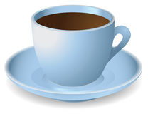 Blue cup with coffee Royalty Free Stock Photo