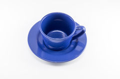 Blue cup of coffee Royalty Free Stock Photography