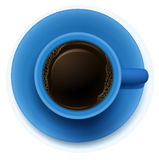 A blue cup with coffee Royalty Free Stock Photos