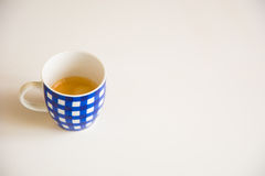 Blue Cup of coffee Royalty Free Stock Image
