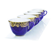 Blue Cup  in the morning Royalty Free Stock Photography