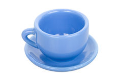 Blue cup with saucer Royalty Free Stock Images