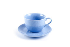 Blue cup with saucer Royalty Free Stock Photo