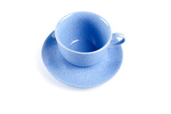 Blue cup with saucer Stock Photography