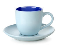 Blue cup and saucer Royalty Free Stock Images