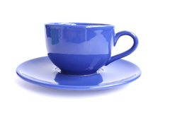 Blue cup of tea Stock Image