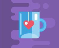 Blue cup. Vector icon. Tea, object or drink and Stock Photography