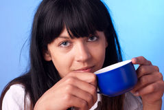 Blue cup Stock Photography