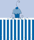 Blue Cupcake Stock Photography