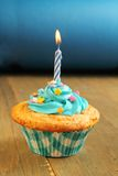 Blue cupcake Royalty Free Stock Images