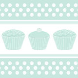 Blue cupcake background stock illustration