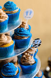Blue cupcakes Royalty Free Stock Image