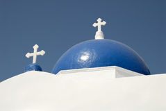 Blue cupola of a church in Greece Royalty Free Stock Image