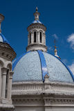Blue Cupolas of the New Cathedral n Cuenca Stock Images