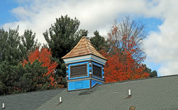 Blue Cuppola on a roofftop. Image of a blue cupola on a rooftop Royalty Free Stock Photo