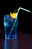 Blue curacao. Exotic cocktail solated on white stock photo