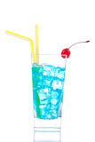 Blue curacao based cocktail Royalty Free Stock Photography
