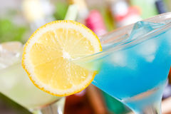 Blue Curacao cocktail Stock Image