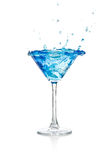 Blue curacao cocktail Royalty Free Stock Photo