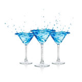 Blue curacao cocktail Stock Photo