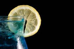 Blue curacao cocktail Stock Photos