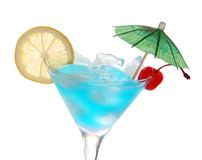 Blue Curacao cocktail Stock Photography