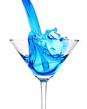 Blue Curacao cocktail splash Stock Image