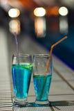 Blue Curacao cocktails Stock Photos