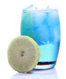 Blue curacao drink Royalty Free Stock Photos