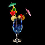 Blue curacao fresh Coctail isolated on black Stock Images