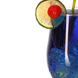 Blue curacao fresh Coctail isolated on white Stock Photo