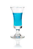 Blue curacao liqueur Royalty Free Stock Image