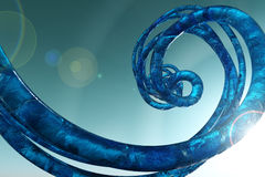 Blue curl fantasy 3d. Abstract background sky Stock Image