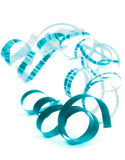 Blue Curled Streamers Royalty Free Stock Photography