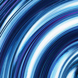 Blue curled waves ripple background Royalty Free Stock Images