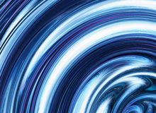 Blue curled waves ripple backgrounds Royalty Free Stock Photo