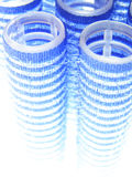Blue curlers Royalty Free Stock Photo
