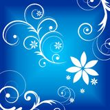 Blue Curly Graphic Royalty Free Stock Photography