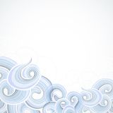 Blue curly pattern at bottom background Royalty Free Stock Images