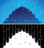 Blue curtain. With selection and stars Royalty Free Illustration