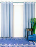 Blue curtain Stock Photography
