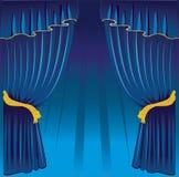 Blue curtain Royalty Free Stock Photo