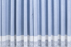A blue curtain stock photography