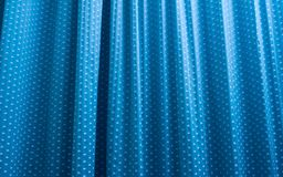 Blue curtain  background Stock Photography