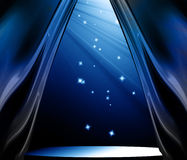 Blue curtain background Royalty Free Stock Photo